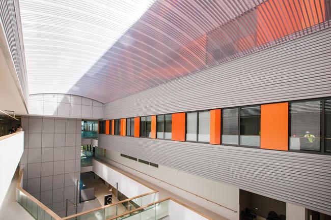 North Shore Hospital Translucent Atrium Barrel Vault Roof