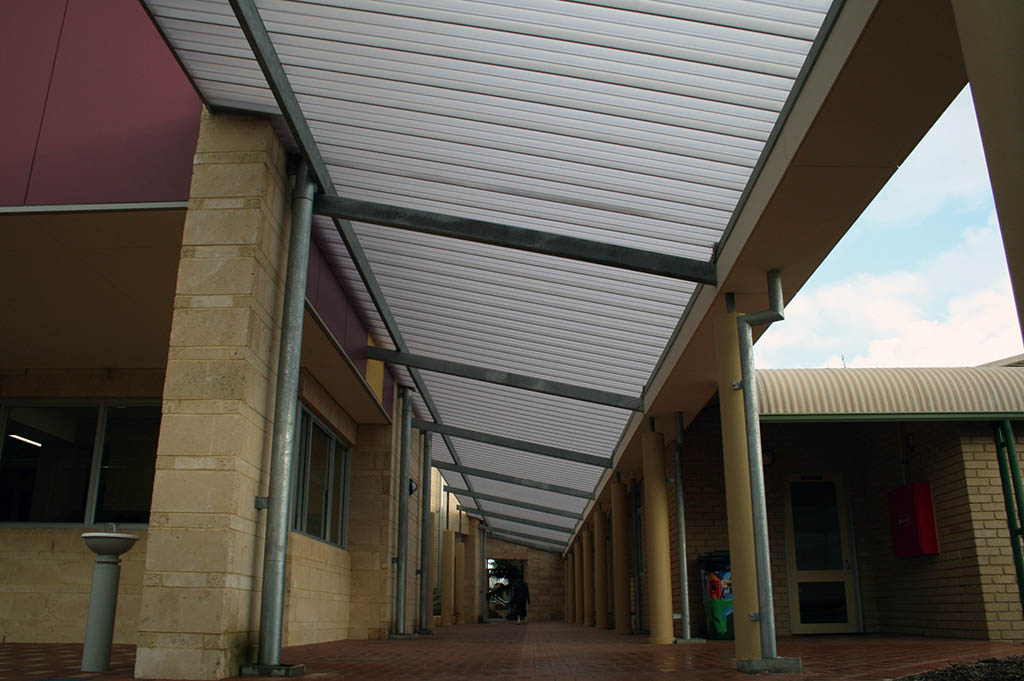 Large Translucent Walkways Library Link St Marks Anglican
