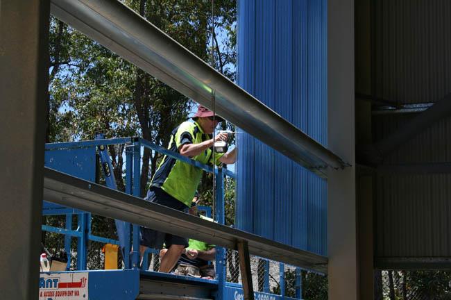 Mundaring Christian College Large Blue Translucent Wall
