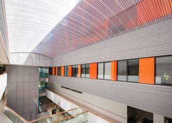 North Shore Hospital Translucent Atrium Barrel Vault Roof Sydney New