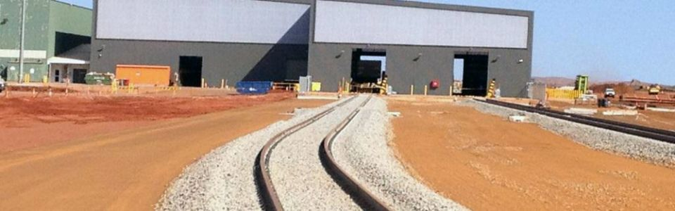Large Translucent Wall FMG Rolley Yard Workshop South Hedland