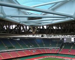 Cardiff Stadium Wales (UK) Tappered barrel vault with 12mtr spans.